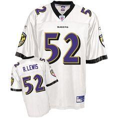 Reebok Baltimore Ravens Ray Lewis 52 White Authentic Jerseys Sale