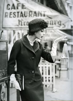 50's Fashion Images by Georges Dambier - gloves <3