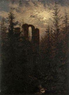 "Carl Gustav Carus ""the Altzella monastery ruins, 1821"