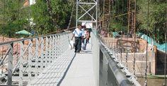 Listo puente peatonal Paso de El Colegio