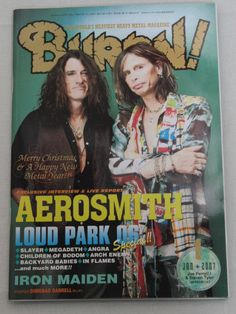 2007/01 BURRN! Japan Magazine AEROSMITH/LOUD PARK 06/LORDI/KILLSWITCH ENGAGE
