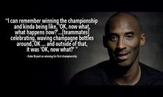 After winning his first championship.