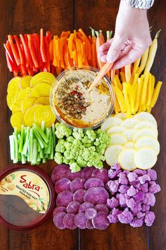 Gorgeous Rainbow Vegetable Tray! Perfect for parties!