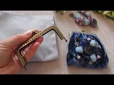 Сумочка с фермуаром ,Вышивка и мк , брошь мотылек от Ксении - YouTube