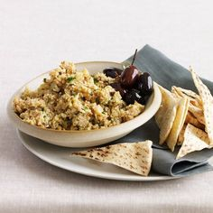 Roasted-Cauliflower-and-Sesame Spread | Chef Way Jerry Traunfeld toasts and grinds whole coriander seeds before pureeing them with roasted cauliflower, tahini paste, lemon and cilantro. E...