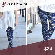 """✨NEW ARRIVAL✨ """"Kaleidoscope"""" Modern Print Legging SO Soft And Buttery. Looks Adorable With The Grey Asymmetrical Tunic! 💎92% Polyester 8% Spandex💎 These Are One Size {Fits 2-12 Comfortably} Infinity Raine Pants Leggings"""