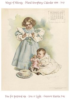 October 1899 Maud Humphrey Calendar Page