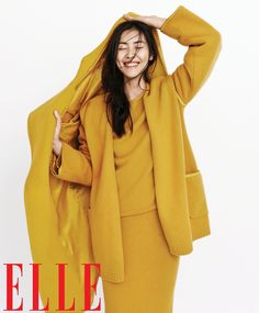 liu wen model1 Liu Wen Models Fall Looks for Elle Chinas September Issue