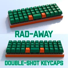 UKKeycaps K-Series Rad-Away Planck Keyset