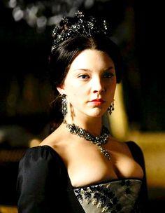 Natalie Dormer as Anne Boleyn on the Tudors