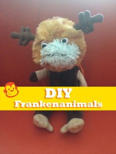 A great craft to pare down your stuffed animal collection, with hilarious results. #Halloween #crafts #kids