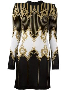 Shop Balmain baroque knitted dress in L'Espionne from the world's best independent boutiques at farfetch.com. Shop 400 boutiques at one address.