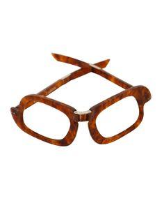 ebeda1eba32 PIERRE CARDIN 1960s Vintage Folding Glasses Frame Sunglasses Tortoise Brown  Collector s Item NEW Unworn