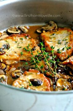 I had a Pork Chop Marsala at Francesca's the other night. Was so incredible I decided I have to make it. Found this recipe. Would double the sauce, maybe double the mushrooms, use thick cut bone-in chops, and add flour after the mushrooms for a thicker sauce. Can't wait to make it.