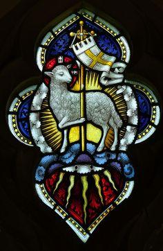 Lamb of God All Saints, Norton Mandeville, Essex Stained Glass Church, Stained Glass Art, Stained Glass Windows, Christian Symbols, Christian Art, Catholic Art, Religious Art, Religion, Biblical Art