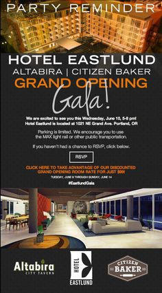 Reminder Email For Hotel Eastlund Opening Gala Emailmarketing