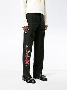 Gucci ドラゴン刺繡 テーラードパンツ