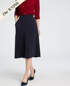 Pleat-Front Midi Skirt | Ann Taylor