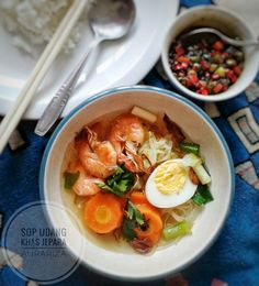 Indonesian cuisine Sop udang khas jepara Shrimp clear soup from indonesia