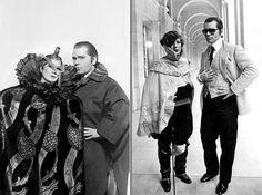 In late 70s, Anna Piaggi & Karl Lagerfeld