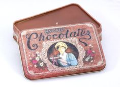 Vintage Chocolate Box Tin Candle by CherryBlossomCandles on Etsy, £12.00