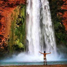 Mooney Falls, Coconino County, Arizona — by Arielle @ChasingTheWorld.com. Mooney Falls - Deep in the Grand Canyon is a secret, massive paradise called Havasupai...