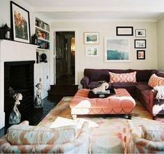 Ikat Living Room // photographer Patrick Cline // Lonny