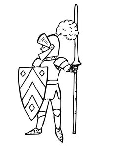 Knights In Shining Armor Coloring Pages Castles 1