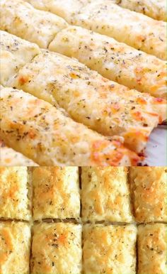 recipes Homemade Cheesy Garlic Breadsticks Recipe Using Pillsbury refrigerated pizza crust you can make an easy, awesome and super delicious side dish! Tasty Videos, Food Videos, Food Blogs, Fun Easy Recipes, Healthy Recipes, Vegetarian Recipes, Keto Recipes, Super Bowl Recipes, Fish Recipes