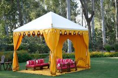 Maharaja Tent from India Indian style Tent - Diy Event Outdoor Rooms, Outdoor Living, Outdoor Decor, Tent Camping, Glamping, Bohemian Party Decorations, Wedding Decorations, Moroccan Tent, Moroccan Party