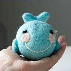 Make a super cute needle felted whale.
