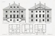 18th century English Palaces and stately homes from Vitruvius Britannicus