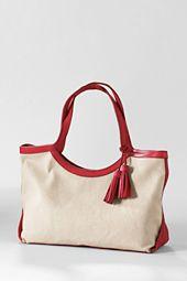 Women's Small Kinzie Linen Tote Bag