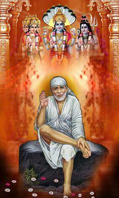 Sai Baba Hd Wallpaper, Clock Wallpaper, Sai Baba Wallpapers, Shiva Wallpaper, Ganesh Bhagwan, Sai Baba Miracles, Indian Spirituality, Shree Ganesh, Ganesha