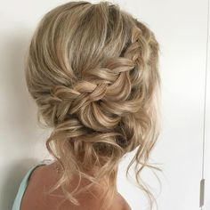 What's the Difference Between a Bun and a Chignon? - How to Do a Chignon Bun – Easy Chignon Hair Tutorial - The Trending Hairstyle Bridesmaid Hair Updo Braid, Bridesmaid Hair Medium Length, Prom Hair Updo, Bridesmaid Gowns, Bridesmaids Updos, Bridesmaid Hair To The Side, Boho Hair Updo, Medium Length Hair Updos, Casual Hair Updos