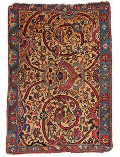 Lot 4. Bidjar 3ft. 0in. x 2ft. 1in. Persia, ca. 1900. Estimate: € 800 - 1200