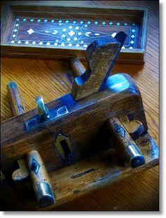 Let your hands and the right tools do the making!    Antique tools  Vintage Wood and brass by thevintagearcade on Etsy, $118.60