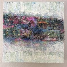 """""""Misty Mesh"""" Mixed media on box canvas 12"""" by 12"""" For sale -£250"""