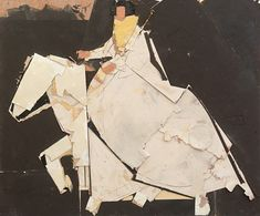 Lady in Caballo, 2017- Manolo Valdés (b. 1942) oil and collage on board | source: