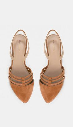 Pointed toe slingback skimmers - Destiny