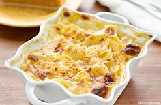 Baked potato recipes are a dime a dozen, as are potato casseroles, but some of them are pretty unhealthy. At 193 calories a serving, I can still have my potatoes :)  #potato #casserole