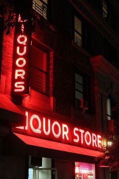 Liquor Store Neon by joseph a, via Flickr