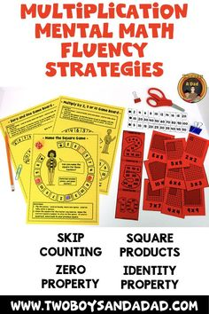 Multiplication fluency is more than just memorizing facts. It is also using a mental math strategy when recall fails. These resources help students practice skip counting, learning the square products and the Identity and Zero Properties of Multiplication.  Come check out the PREVIEW of the entire resource!