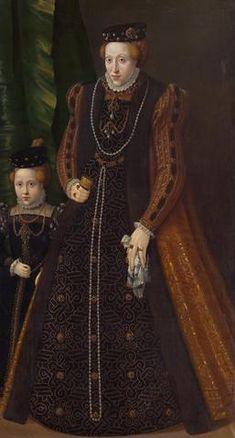 Archduchess Maria of Austria & Maria Eleonore, ca. 1555 (Jakob Seisenegger) (1505-1567)  Kunsthistorisches Museum, Wien, GG 2577