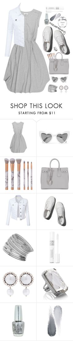 """Obsessed Much"" by blondemommy ❤ liked on Polyvore featuring Beaumont Organic, Yves Saint Laurent, LE3NO, Abercrombie & Fitch, Miss Selfridge, Christian Dior, Miu Miu, Marc Jacobs, OPI and Clé de Peau Beauté"