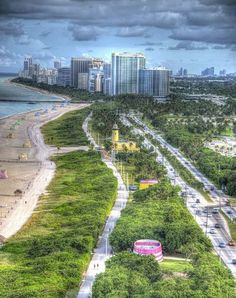 Ocean Drive, South Florida, Miami Skyline, Country Roads