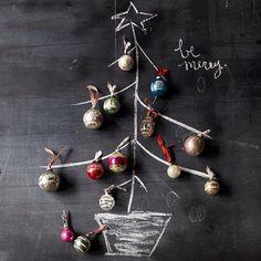 Ideas navideñas con pizarra