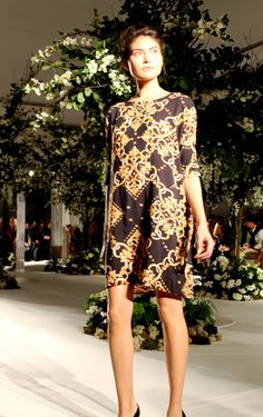 Cool chain print dress at at Fearne Cotton's very.co.uk SS13 LFW show at Claridges (lots more pics @ Fashion Detective)