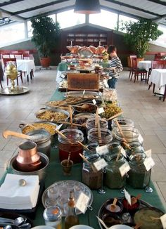 Delicious Breakfast Buffets in Istanbul. Fresh local food and Turkish specialities, perfect for vegetarians. Love it! Armada Hotel Sultanahmet Turkey.