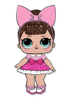 esta es.....nose no tiene lista 6th Birthday Parties, 8th Birthday, Baby Dolls, Doll Party, Lol Dolls, Cute Cookies, Fabric Dolls, Disney Characters, Fictional Characters